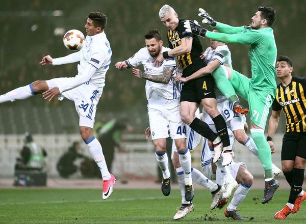 Прогноз на футбол: Динамо Киев – АЕК, Лига Европы, 1/16 финала (22/02/2018/21:00)