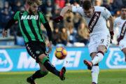 Прогноз на футбол: Сассуоло – Торино, Италия, Серия А, 17 тур (22/12/2018/17:00)