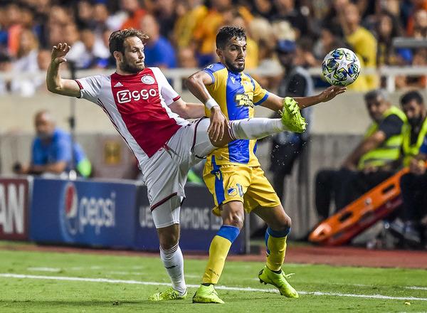 Прогноз на футбол: Аякс — АПОЭЛ, Лига Чемпионов, Плей-офф (28/08/2019/22:00)